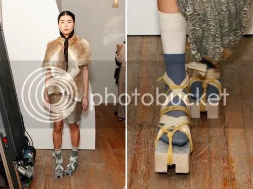 platform bondage shoe