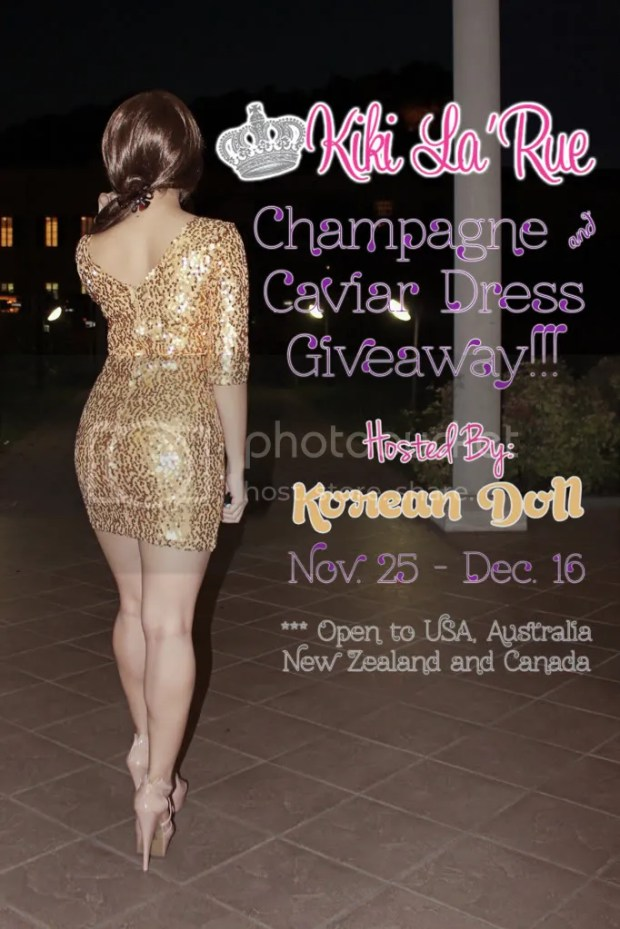 Champagne Caviar Dress Giveaway