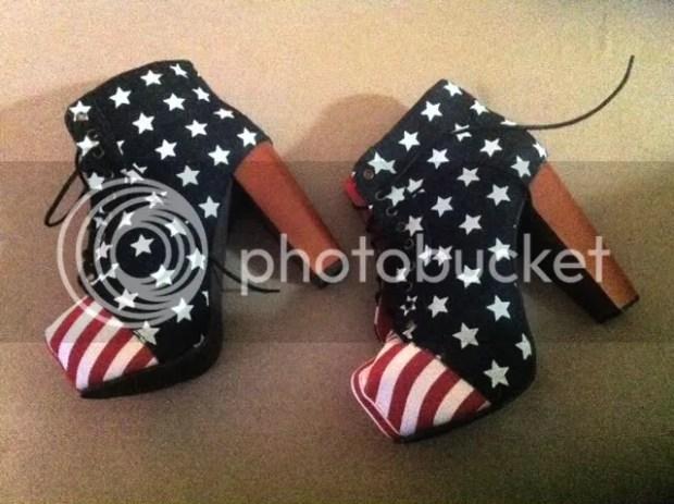 American Flag Lita Shoes Jeffrey Campbell
