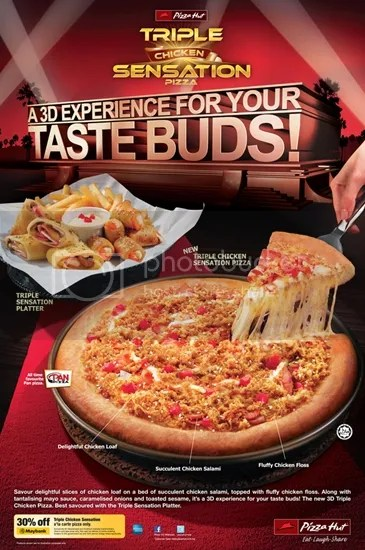 pizza hut triple chichken