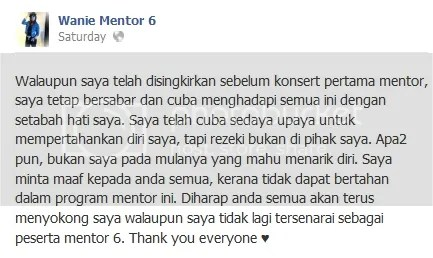 wanie mentor 6