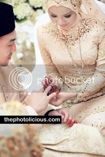 gambar kahwin apek dan leuniey