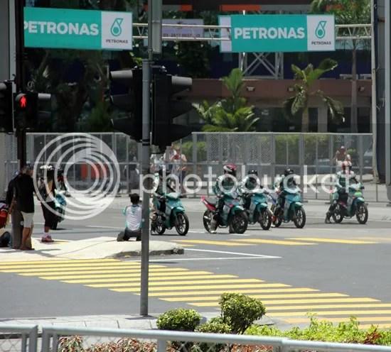 petronas motosports demo run