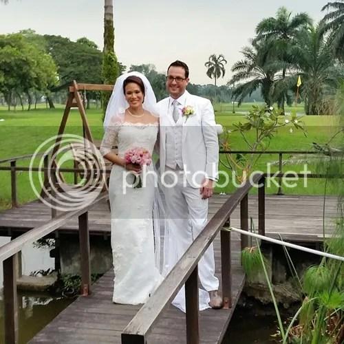 gambar kahwin elain daly