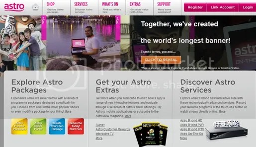 astro world longest online banner