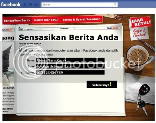 facebook harian metro