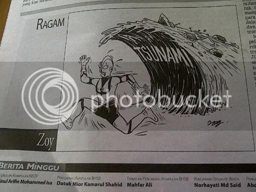 karikatur berita harian