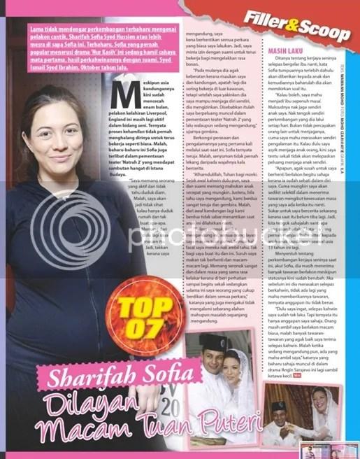 gambar sharifah sofia mengandung