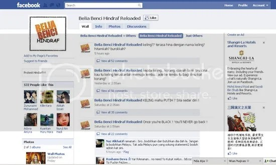 facebook anti hindraf