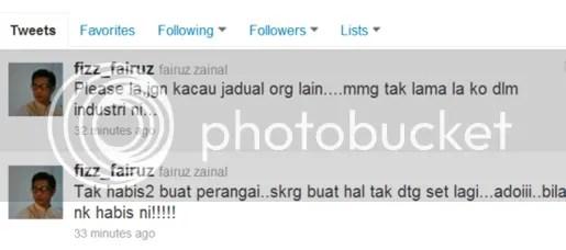 fizz fairuz mengamuk di twitter