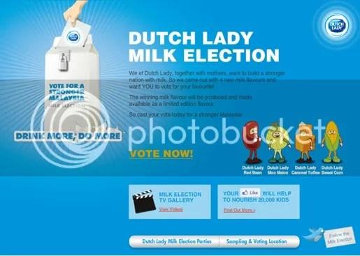 pilihanraya susu dutch lady