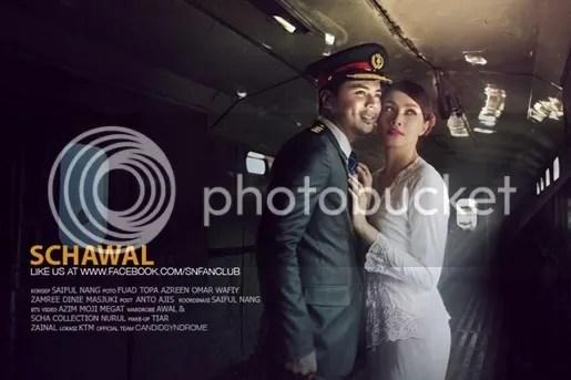 gambar pra perkahwinan awal dan scha