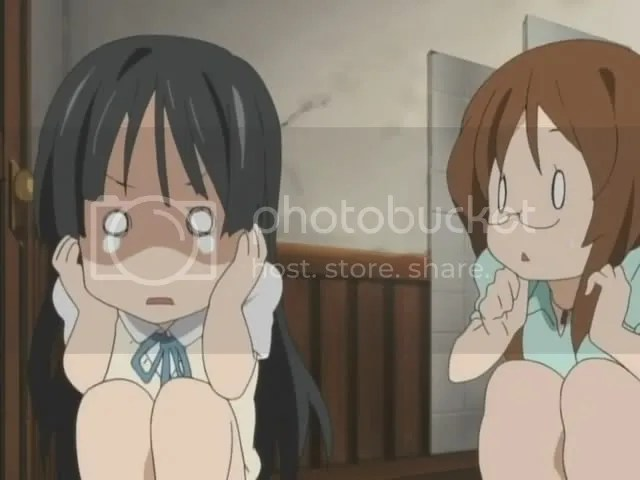 Sudddenly panning to the left and seeing Mio shivering there: Gold.