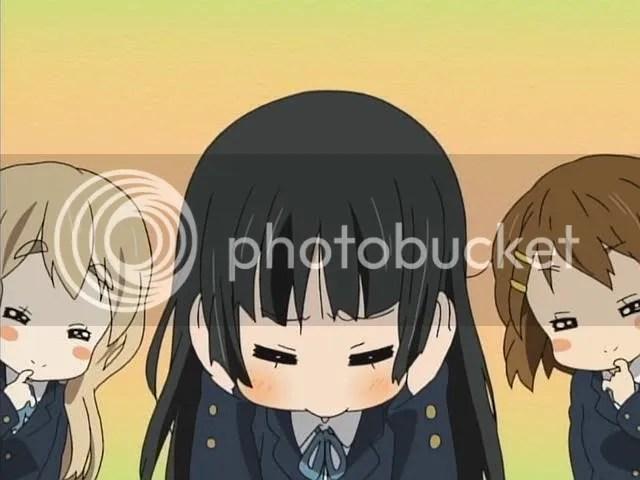Mio has bad memories of drooling otaku. Aaaw.