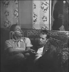 William S. Burroughs and Jack Kerouac relaxing