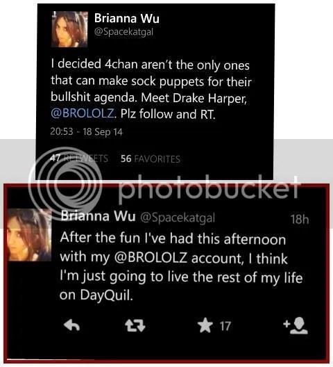 Brianna Wu, seen here admitting to creating a troll account to troll #gamergate