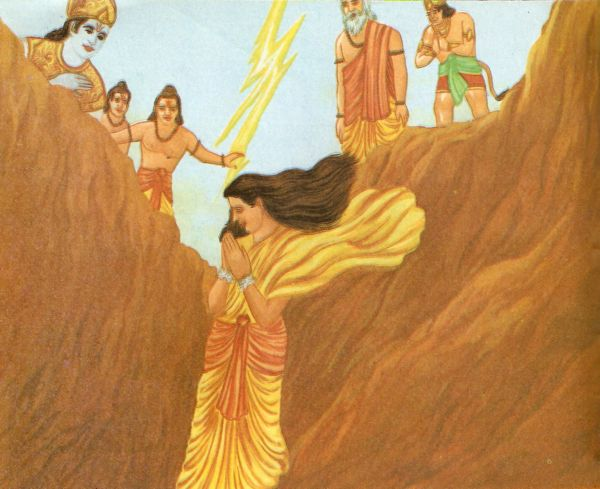 Image result for sita going into earth