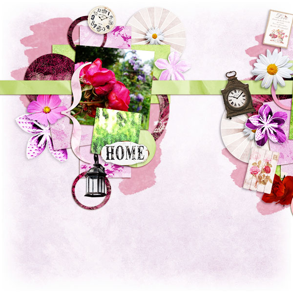 can you paint me some flowers kit by simplette scrap and design page toupie