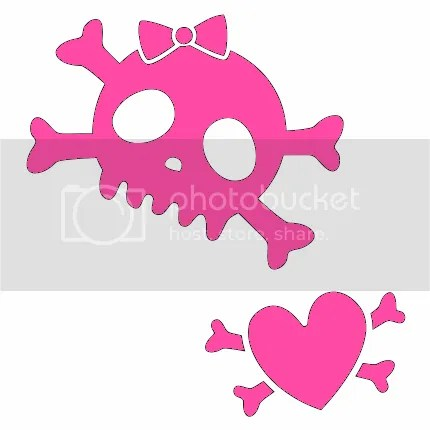 Tattoo Graphics CommentsJunkie.com · girly skull and bones Pictures,