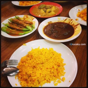 rice & malaysian style lunch