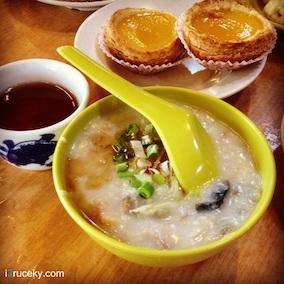 congee century egg