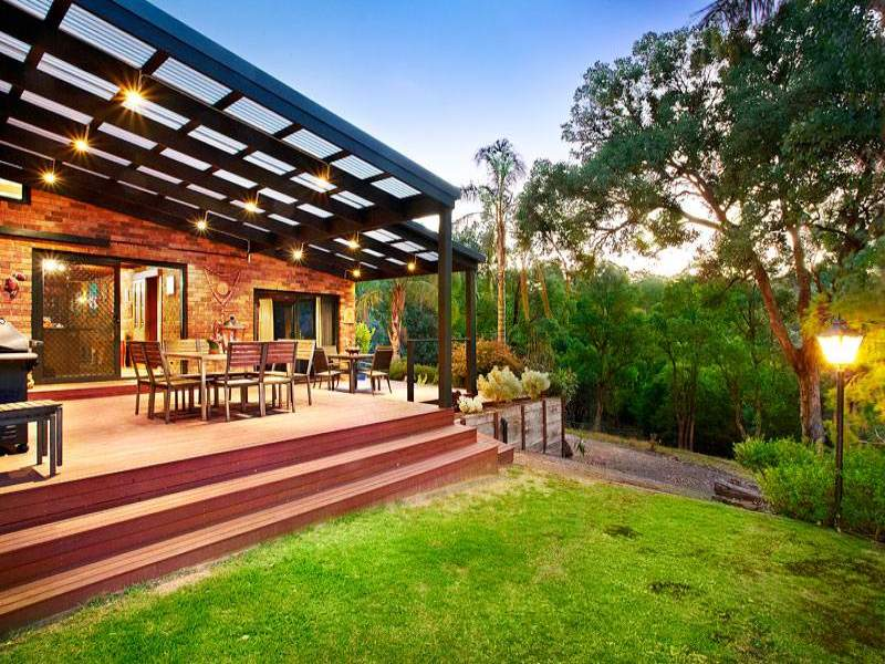 Multi-level outdoor living design with bbq area ... on Fancy Outdoor Living id=59830