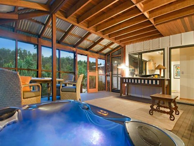 Outdoor living design with spa from a real Australian home ... on Outdoor Living Spa id=23214