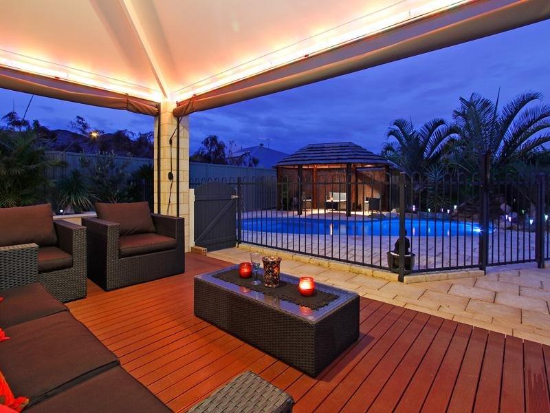 Indoor-outdoor outdoor living design with gazebo ... on Fancy Outdoor Living id=72942