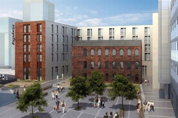 An artist's impression of the wider Newhall Square development