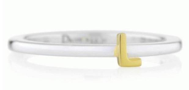 Daisy Initial Ring, £37