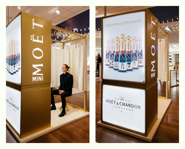 Moet allows you to make personalised champagne bottles for Christmas