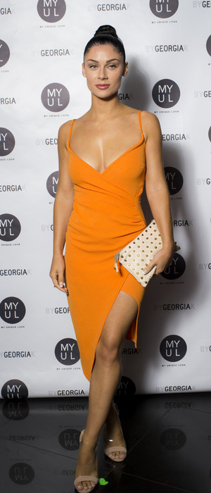 Love Island star Cally Jane Beech at the By Georgia K launch party, London, 20 September 2016