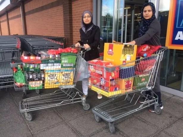 Women of Ahmadiyya Muslim Association Newcastle chapter donated food to Sunderland Homeless Food bank