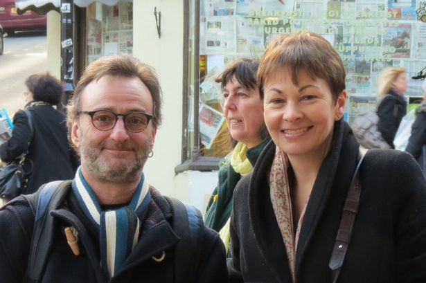 Peter Pinkney, President of the RMT, with Brighton's Green MP Caroline Lucas