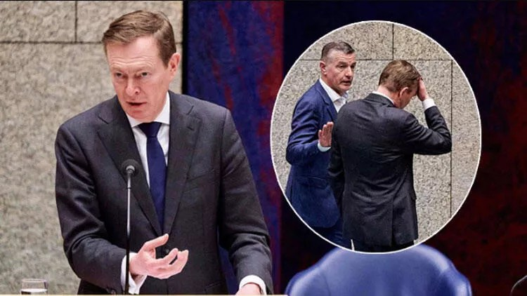 Hollanda'da corona virüs oturumunda bayılan Sıhhat Bakanı istifa etti 1