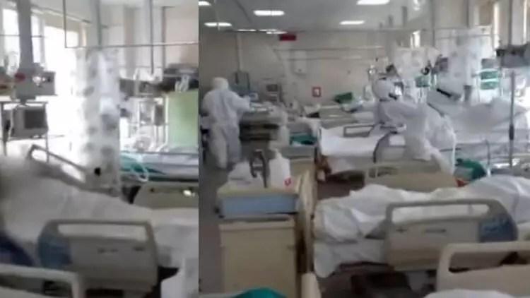 Rusya'da hekim ağır bakım ünitesini görüntüledi: Genç hastaların muhtaçlığı var 1