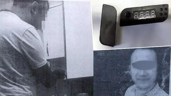 Banyoda gizli kamerayla eşi ve akrabalarını kayda aldığı iddia edilen koca adliyede