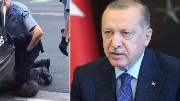 Cumhurbaşkanı Erdoğan, ABD'deki polis şiddeti olayını kınadı
