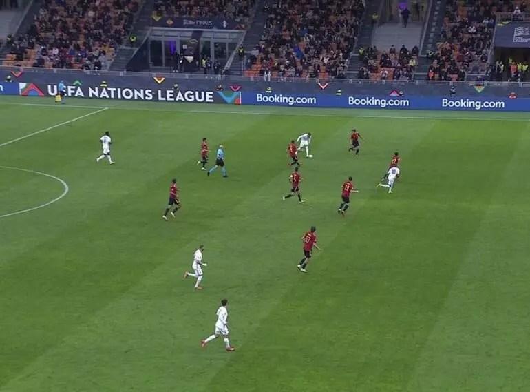 Son dakika: İspanya-Fransa maçına damga vuran gol! Mbappe ofsayt mı? Kural ne diyor?