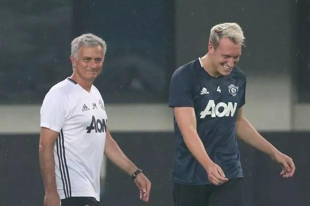 Image result for Manchester United's Mourinho phil Jones