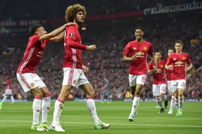 Fellaini Mencetak Gol Bagi Man Utd pada lanjutan Europa League