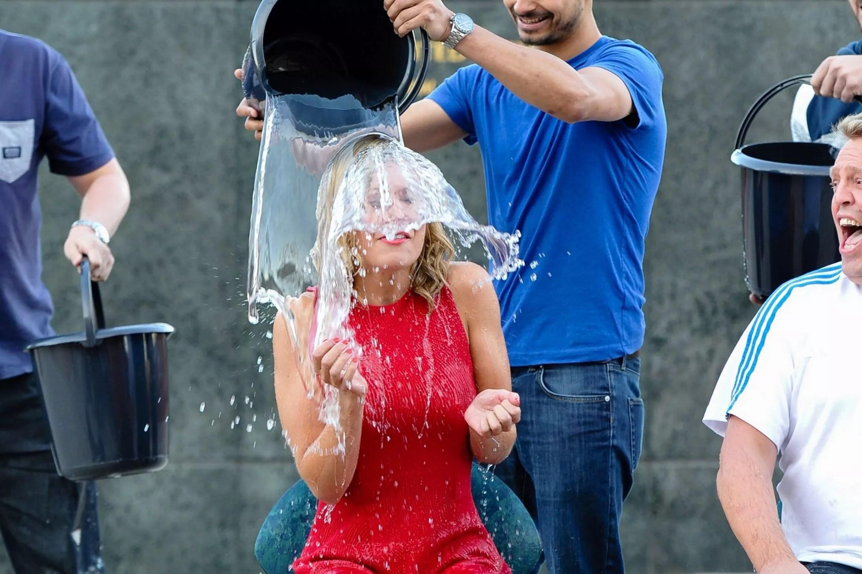Watch Countdown Star Rachel Riley Soaked In Ice Bucket