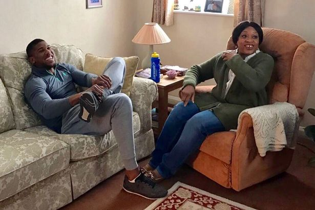 Image result for picture of anthony joshua's parents