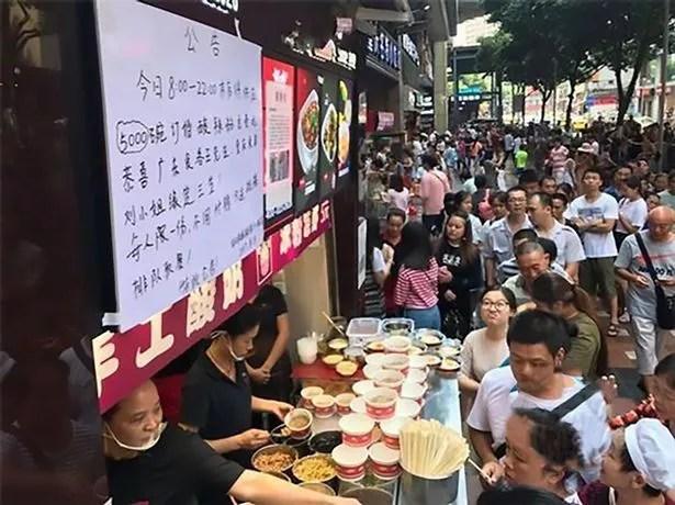 Wang sangat berterima kasih kepada restoran tersebut (Image: AsiaWire)