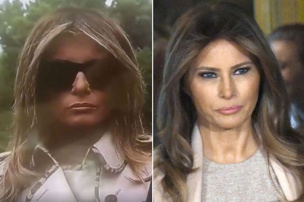 Melania Trump has been replaced with a body double ...