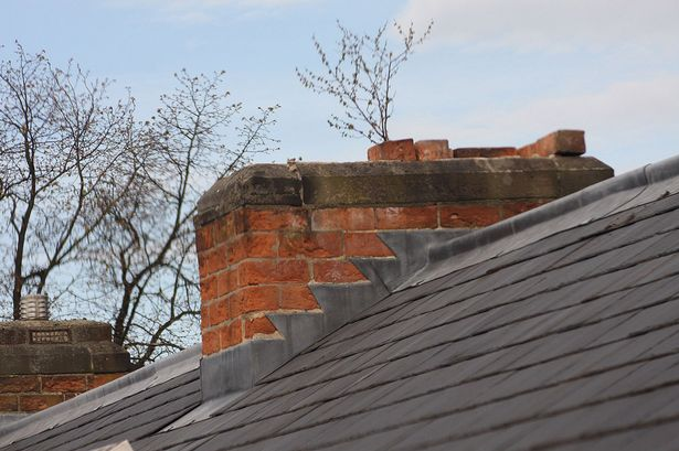 Grim discovery: The chimney at the solicitors