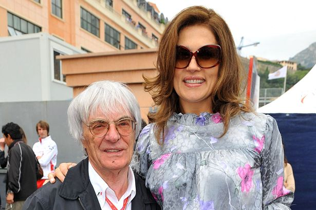 Bernie and ex-wife Slavica Ecclestone
