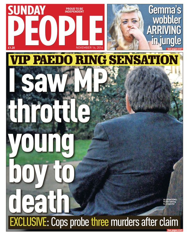 Sunday People paedo cover ring