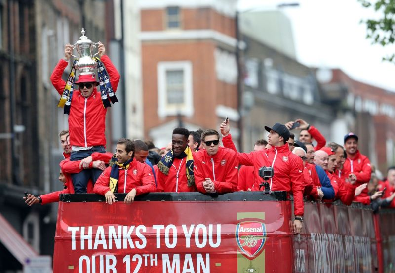 Jack Wilshere with the FA Cup