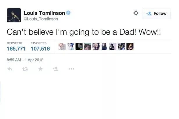 Louis Tomlinson dad joke tweet